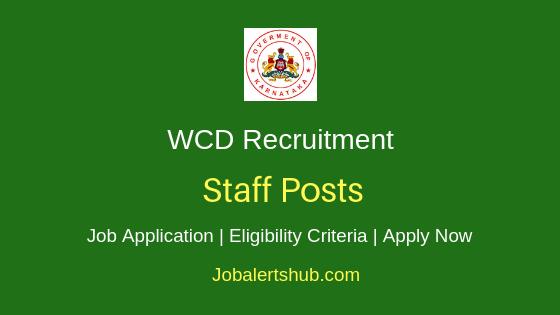 Karnataka WCD Staff Job Notification