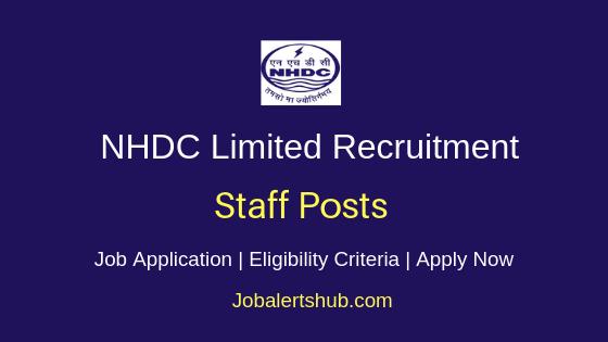 NHDC Limited Staff Job Notification