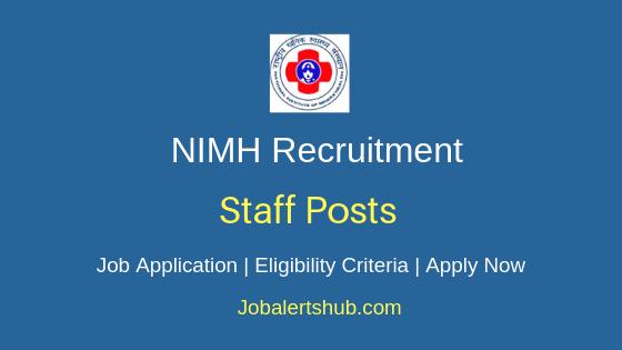 NIMH Staff Job Notification