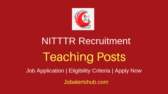 NITTTR Teaching Staff Job Notification