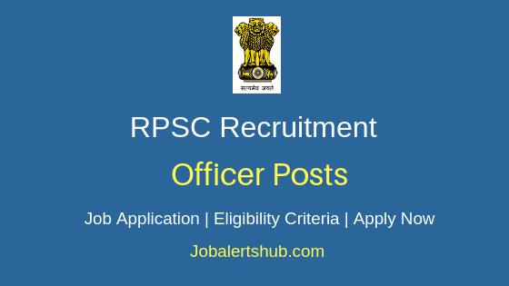 RPSC Officer Job Notification