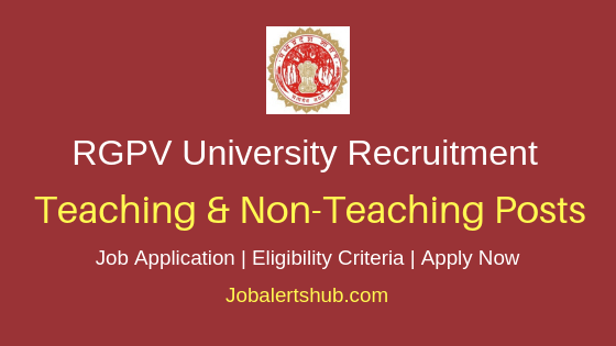 RGPV Project Assistant, Data Operator 2019 Job Notification