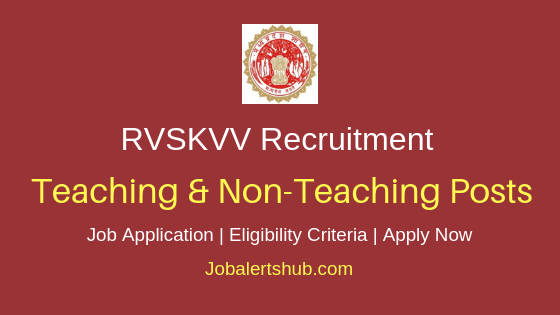RVSKVV Teaching & Non-Teaching Job Notification
