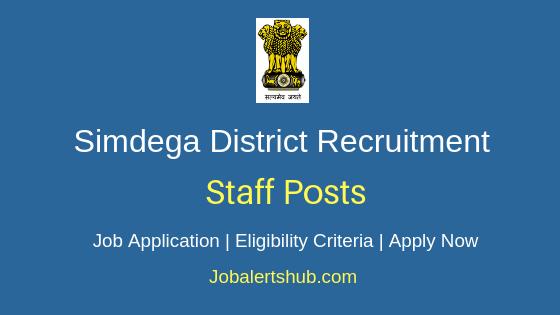 Simdega District Staff Job Notification