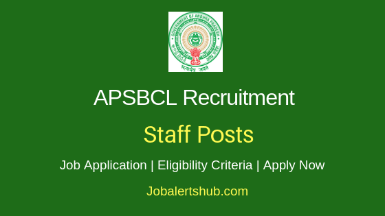 APSBCL Staff Job Notification
