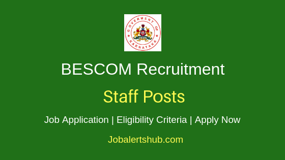BESCOM Staff Job Notification