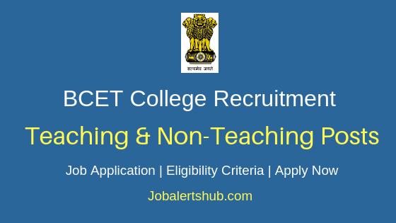 BCET Gurdaspur Teaching & Non-Teaching Job Notification