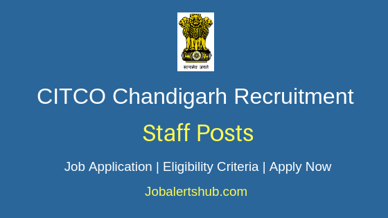 CITCO Chandigarh Staff Job Notification