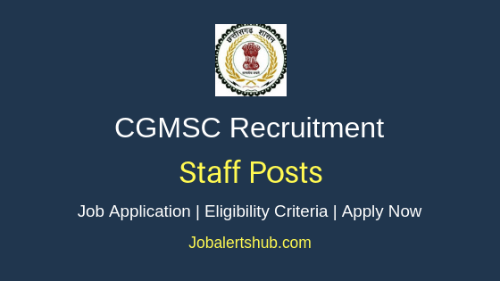 CGMSC Staff Job Notification