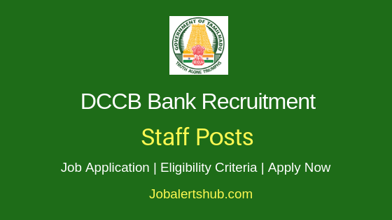 DCCB Bank Staff Job Notification