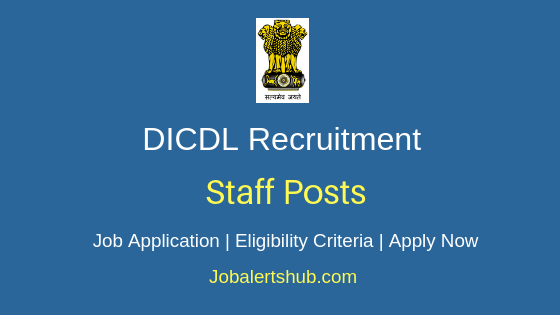 DICDL Staff Job Notification