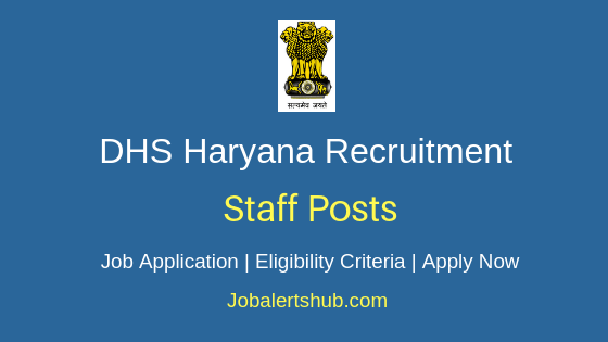 DHS Haryana Staff Job Notification