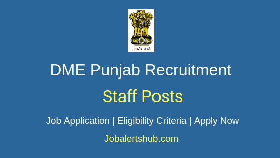 DME Punjab Staff Job Notification