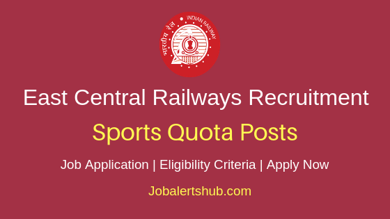 ECR Railways Sports Quota Job Notification