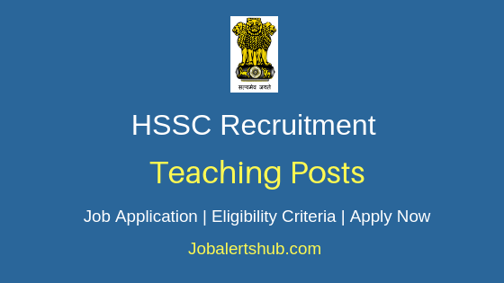 HSSC Teaching Job Notification