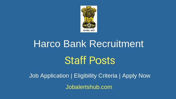 Harco Bank Staff Job Notification