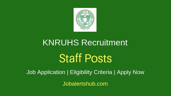 KNRUHS Staff Job Notification