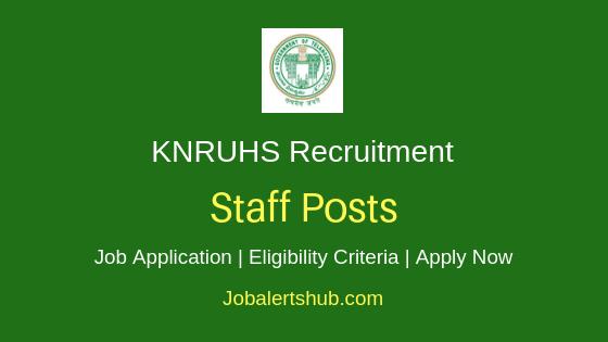 KNRUHS Staff Job Notification