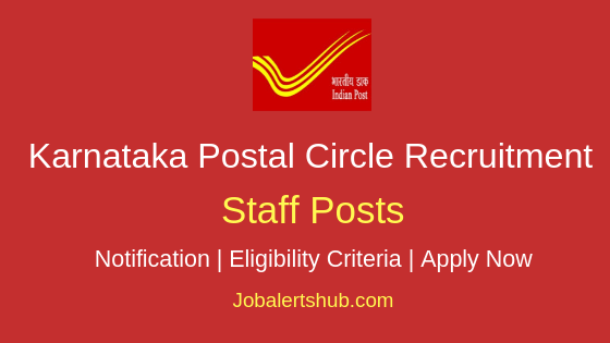 Karnataka Postal Circle Staff Job Notification