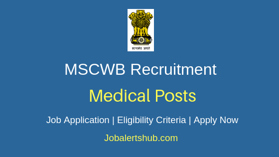 MSCWB Medical Job Notification