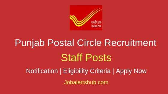 Punjab Postal Circle Staff Job Notification