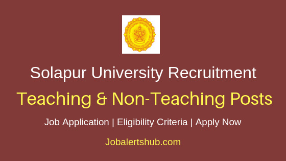 Solapur University Teaching & Non-Teaching Job Notification