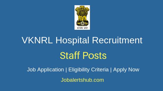 VKNRL Hospital Staff Job Notification
