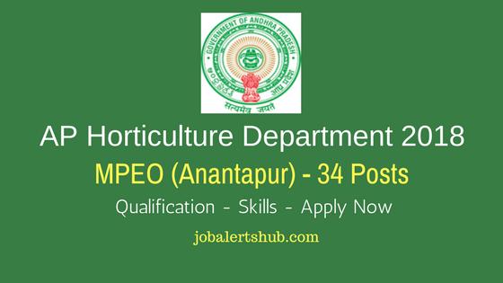 AP Horticulture Department 2018 MPEO Ananthapuramu