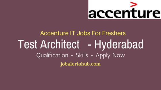 Accenture Recruitment 2017 Fresher Test Architect