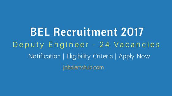 BEL Recruitment 2017 Deputy Engineer