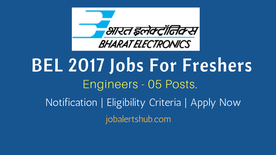BELOP 2017 Recruitment Engineers job notification for Freshers