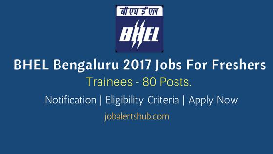 BHEL Bengaluru 2017 Recruitment Trainees For Non-Engineering Graduates