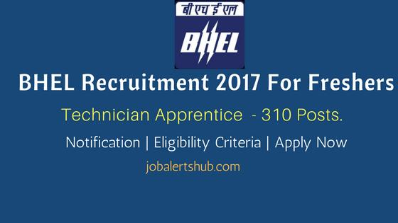 BHEL Recruitment 2017 Technician Apprentice