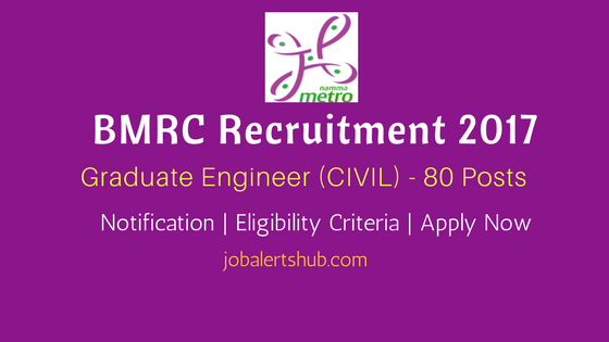 BMRC Recruitment 2017 Graduate Engineer Civil