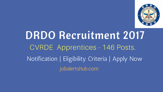 DRDO Recruitment 2017 For ITI CVRDE