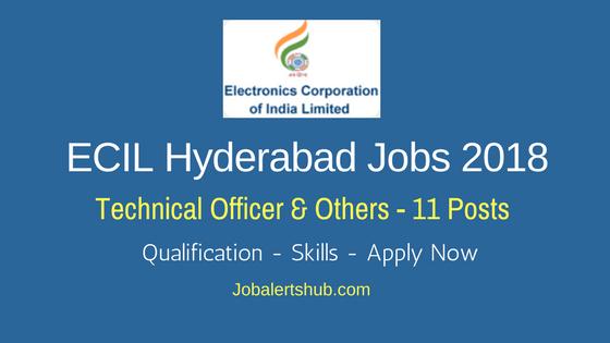 ECIL Hyderabad Jobs 2018 Technical Officer, Scientific Asst & Jr Artisan Job Notification