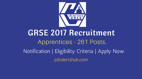 GRSE 2017 Recruitment Apprentices notification