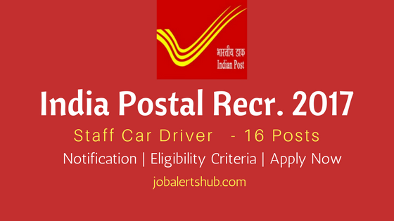 India Post Recruitment 2017 Staff Car Driver Job Notification For Mumbai Location