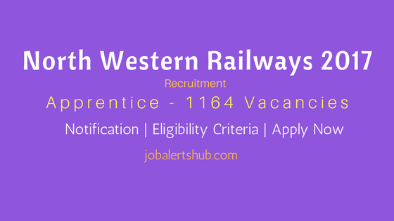North Western Railways 2017 Apprentice
