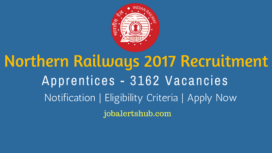 Northern Railways 2017 Recruitment Apprentice job notification