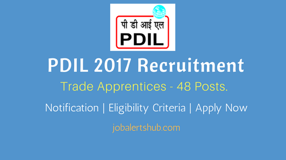 PDIL 2017 Recruitment Trade Apprentices notification for NOIDA and VADODARA locations