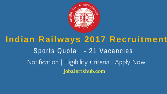 RRC North Central Railways 2017 Sports Quota
