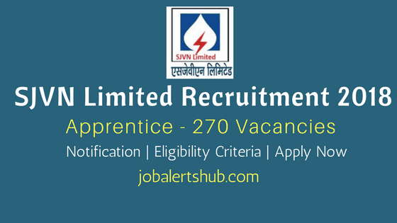 SJVN-Limited-Recruitment-2018-Apprentice-Job-Notification