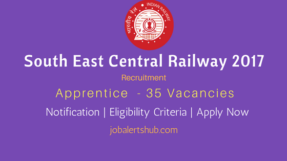 South East Central Railway 2017 Recruitment Apprentice For Freshers