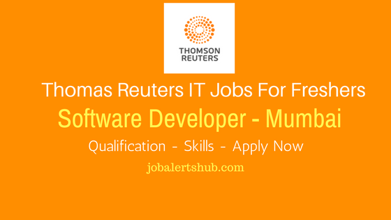 Thomas Reuters 2017 Recruitment Software Developer For Mumbai Location