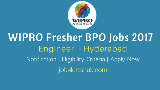 Wipro 2017 Recruitment Engineer BPO Jobs in Hyderabad Location