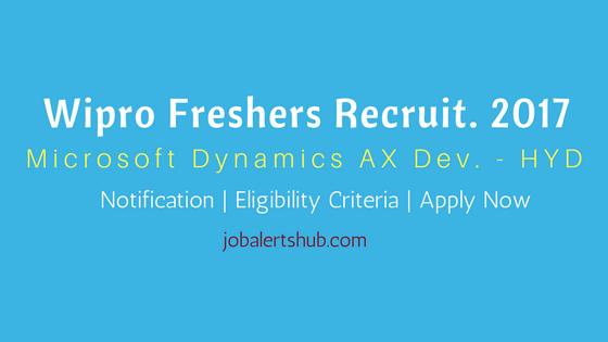 Wipro Fresher Jobs 2017 Microsoft Dynamics AX