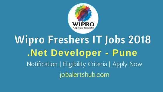 Wipro Freshers Jobs In Pune 2018 Dot Net Developer Job Announcement