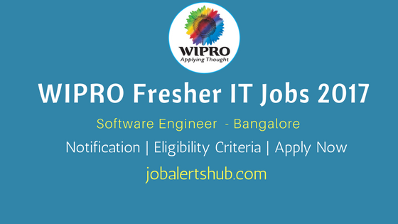 Wipro Recruitment 2017 Freshers engineer vacancies in Bangalore city